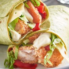 popcorn-chicken-spinach-wrap-with-cheese-roast-peppers-pesto-and-mayo-50310930